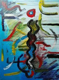 Abstrakte malerei, Acrylmalerei, Abstrakt, Gemälde