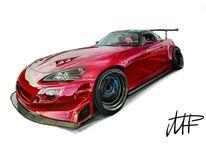 S2000, Honda, Pinnwand, Zeichnung