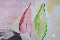 Frau, Grün, Zeichnung, Tafel tyvek