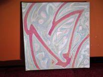 Energie, Acrylmalerei, Die mystische taube, Abstrakt