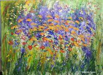 Blumen, Blumenwiese, Bauerngarten, Malerei