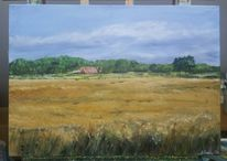 Malerei, Feld, Natur, Bauernhof