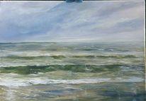 Gewitter, Meer, Gemälde, Malen