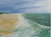 Landschaftsmalerei, Sand, Meer, Nordsee