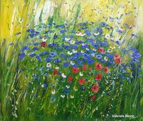 Blumen, Welt, Blau, Rot