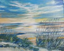 Ruhebild, Ostsee, Landschaftsmalerei, Ozean