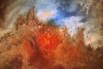 Abstrakt, Malmesser, Inferno, Malerei