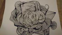 Zeichnung, Schwarz, Abstrakt, Zeichnungen
