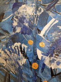 Blau, Nahaufnahme von unterwasserrauschen, Acryl auf canvas, Weiß