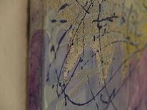 Silber, Nahaufnahme, Blau, Acrylmalerei