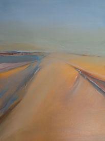 Acrylmalerei, Hafen, Wasser, Abstrakte landschaft