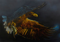 Seeadler mit airbrush, Adler, Airbrush, Malerei