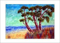 Baum, Blumen, Nordsee, Busch