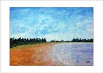 Strand, Küste, Zeitgenössische malerei, Ölmalerei