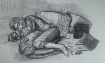 Schlaf, Grau, Frau, Grafit