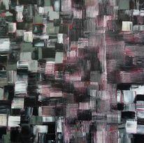 Malerei, Rot schwarz, Grau, Abstrakt