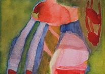 Abstrakt, Licht, Farben, Aquarell