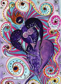 Rot, Psychedelisch, Ausdruck, Schlange