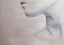 Frau, Acrylmalerei, Nacken, Kinn