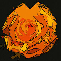 Orange, Schema, Rose, Digitale kunst