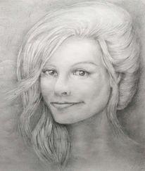 Bleistiftzeichnung, Zeichnung, Jugend, Frau