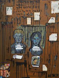 Berlin, Ölmalerei, Abhängigkeit, Gesellschaftskritik