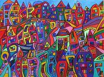 Abstrakt, Bunt, Farben, Acrylmalerei