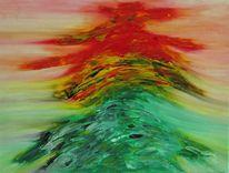 Bunt, Zeitgenössisch, Modern, Acrylmalerei