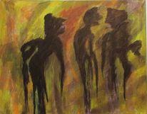 Modern, Acrylmalerei, Schatten, Malerei
