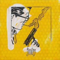 Waffe, Gelb, Zeit, Text