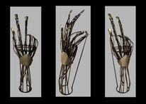 Stahl, Hand, Skulptur, Kunsthandwerk