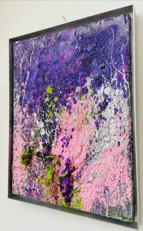 Blumen, Lila, Nordsee, Abstrakte malerei