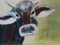 Kopf, Tiere, Rind, Malerei
