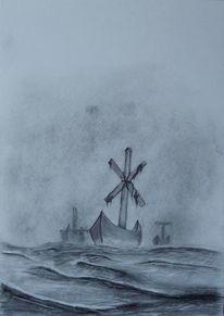 Meer, Schiff, Wasser, Kreuz