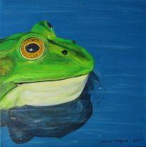 Grün, Tiere, Frosch, Malerei