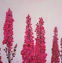Blumen, Rittersporn, Natur, Malerei