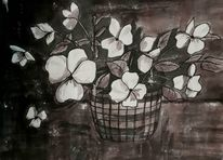 Blumen, Natur, Stiefmütterchen, Zeichnungen