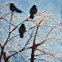 Vogel, Winter, Schnee, Baum