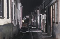 Nacht, Dunkel, Straßenszene, Einsamkeit