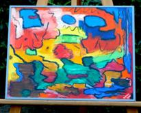 Ölmalerei, Abstrakt, Lebenskraft, Farben