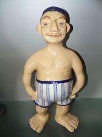 Keramik figur, Keramik unikate, Töpferei, Beachgirl