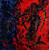 Rot, Frau, Abstrakt, Meerjungfrau