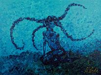 Meerjungfrau, Blau, Wasser, Mädchen