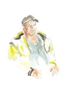 Gelb, Mütze, Arbeiter, Malerei
