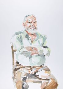 Portrait, Acrylmalerei, Alter mann, Nordstadt