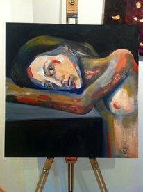 Portrait, Brust, Kopf, Arm