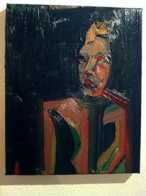 Krone, Gesicht, Zeptar, Abstrakt