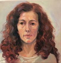 Frau, Malerei, Portrait, Ölmalerei