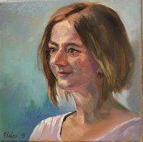 Mädchen, Gesicht, Malerei, Frau