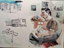 Alltag, Menschen, Gesellschaft, Zeichnungen